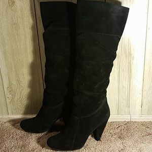 BCBGeneration Suede Leather Tall Black Boots